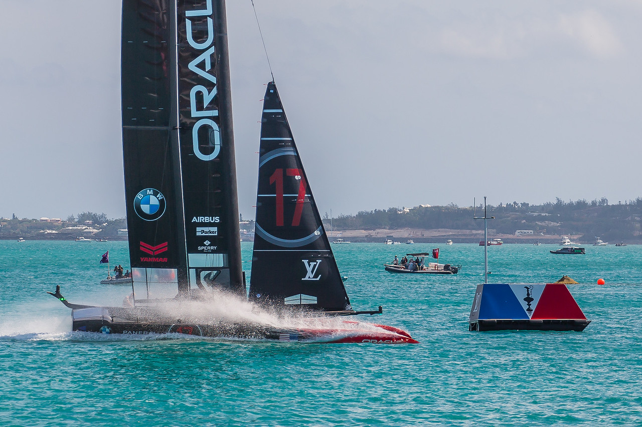 oracle team usa cross finish line to win against team nz