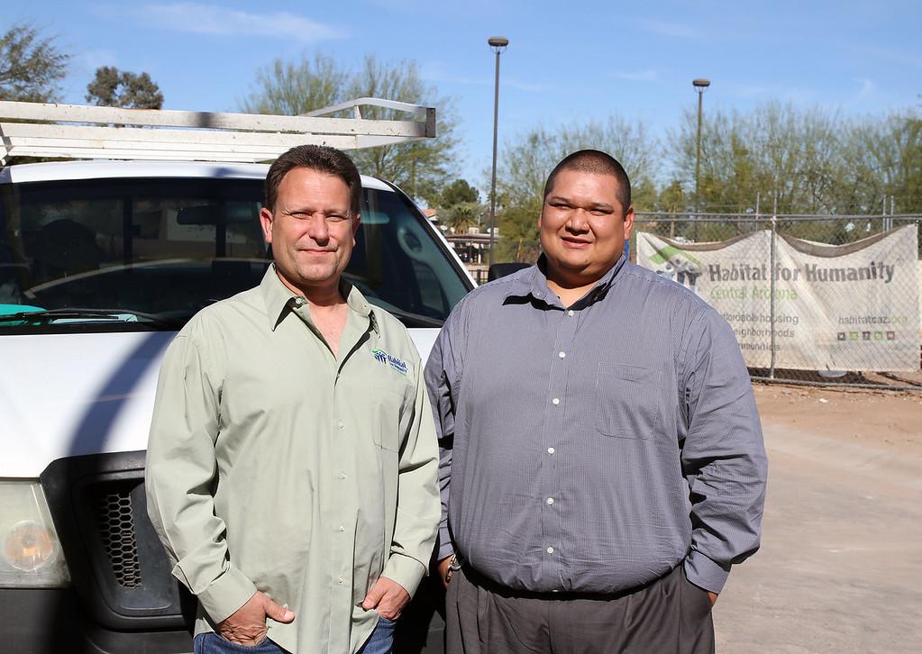 Habitat's Director of Construction, Steve Horst and Director of Community Outreach, Gabriel Jaramillo