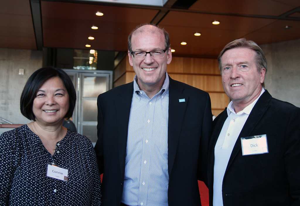 Jonathan Reckford, CEO Habitat International with Dick and Connie Luebke