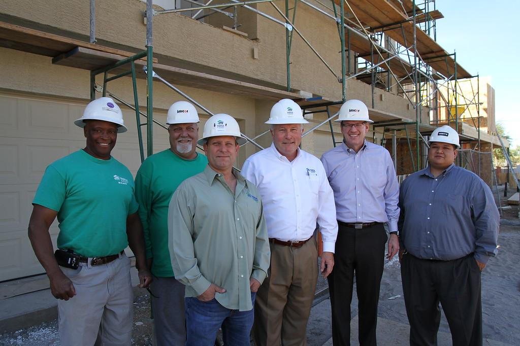From left to right - Franklin Jacobs, Todd Buckner, Steve Horst, Jason Barlow, Jonathan Reckford, Gabriel Jaramillo
