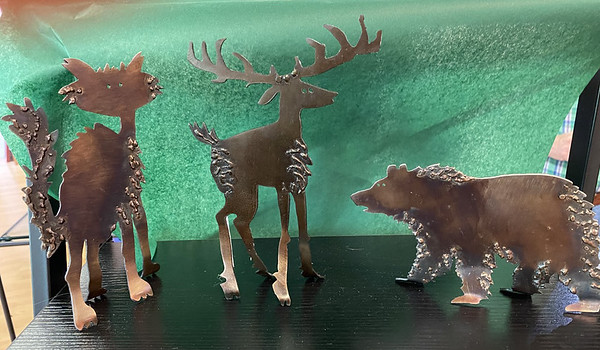 Hand Crafted, Flame Cut Steel Animals