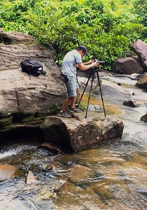 Boren took the time to capture some great images of me working and shooting the Kulen Mountain Waterfall, this being one of my favorites
