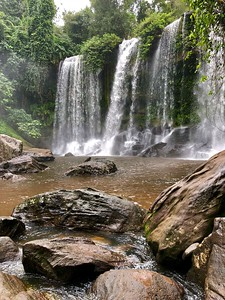 An iPhone capture of Kulen Mountain Waterfall (in portrait orientation to show its height)