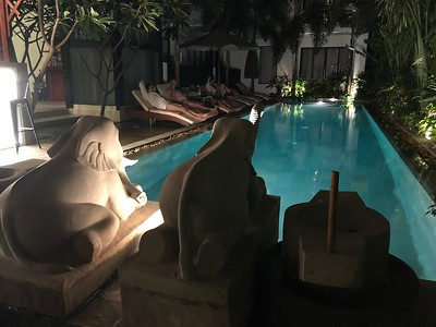 Thirdfold Pool at Night