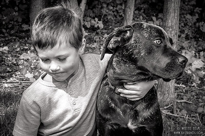 Best Friends - Black & White Photography by Wayne Heim