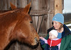 """<div class=""""jaDesc""""> <h4> Shiloh Meets Camille - November 11, 2010</h4> <p>  Camille was very excited to meet our third horse Shiloh, reaching out with her fingers spread to touch Shiloh's muzzle.  She was giggling and not at all afraid.</p> </div>"""