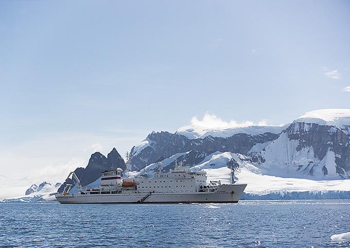 Ship down in Antartica. John Chapman.