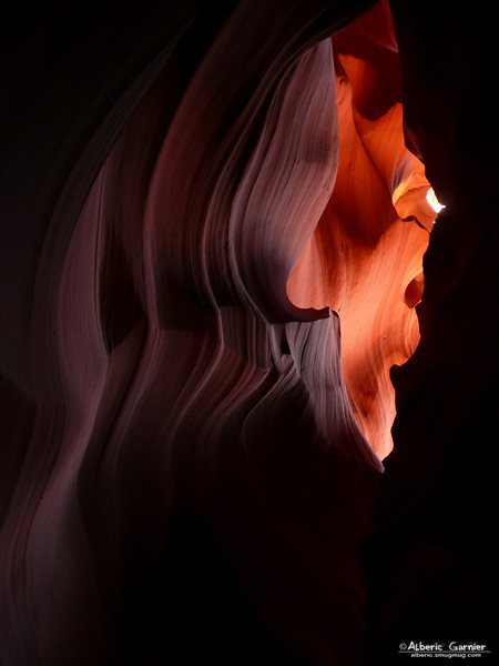 Upper Antelope Canyon (it looks like a face)