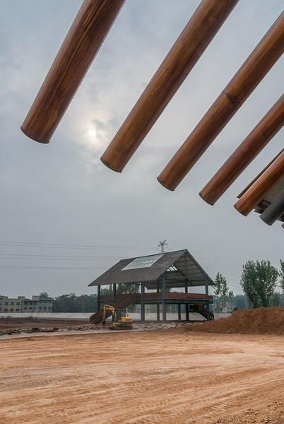 Reconstructed buildings, under construction (Tazhuang, Yanshi, Henan, CN - 11/05/13, 2:38:56 PM)