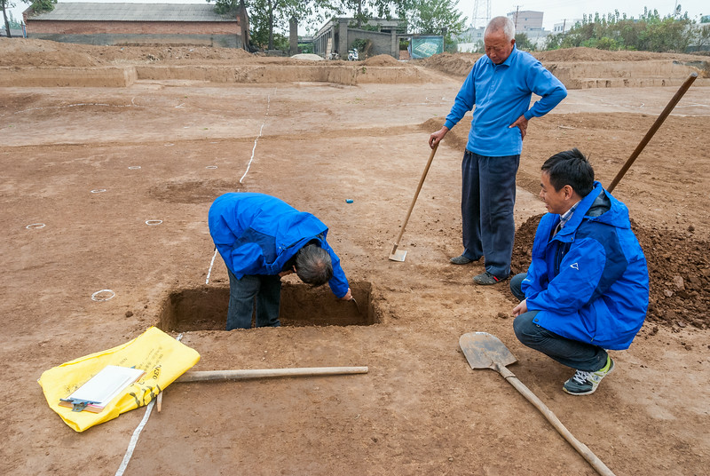 Excavations in the Palace complex at Yanshi Shangcheng (Tazhuang, Yanshi, Henan, CN - 11/05/13, 2:50:42 PM)