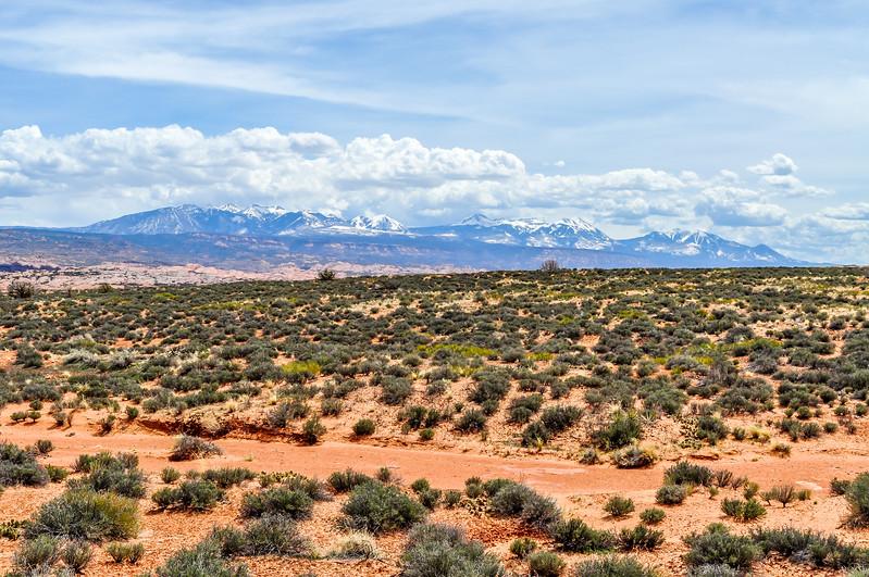 Utah Desert & the La Sal Mountians