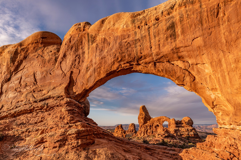 Turret Arch on a cold morning - Arches National Park, UT 2018