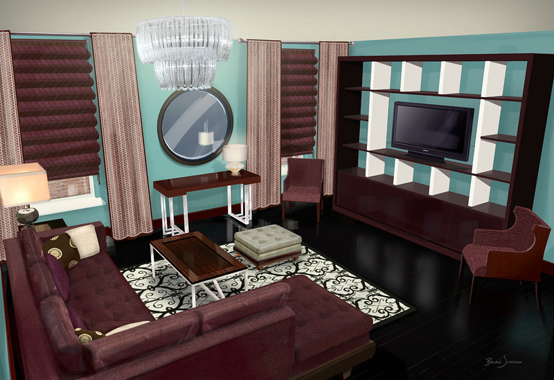 INTERIOR DESIGN RENDERING | SketchUp/Photoshop<br /> Client: Cheryl Gardner Interior Design