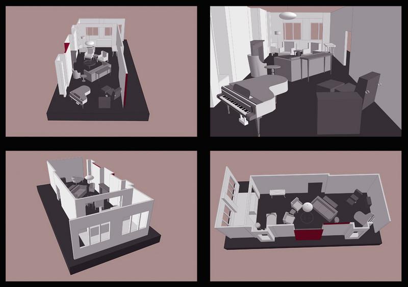 INTERIOR DESIGN LAYOUT   SketchUp<br /> Client: Cheryl Gardner Interior Design