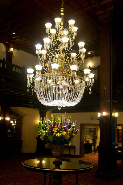 4.24.2011 - The Chandelier in the lobby of the Hotel del Coronado in San Diego.