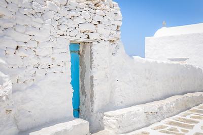 Blue Door - Mykonos, Greece