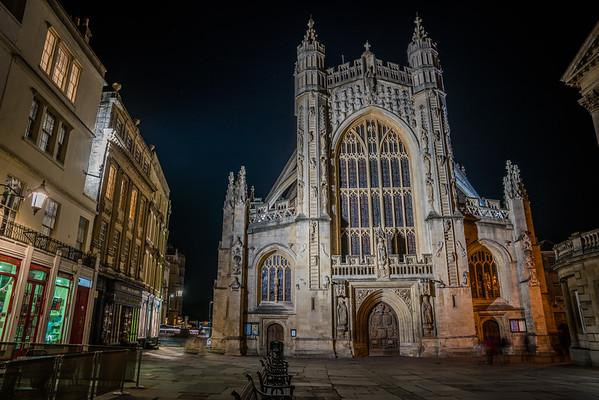 Bath Abbey by Night