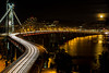 """Bay Bridge """"S"""" Curve<br /> This is the """"S"""" curve on the Bay Bridge going from Oakland to San Francisco While the new portion of the bridge sitting to the left of it gets finished."""