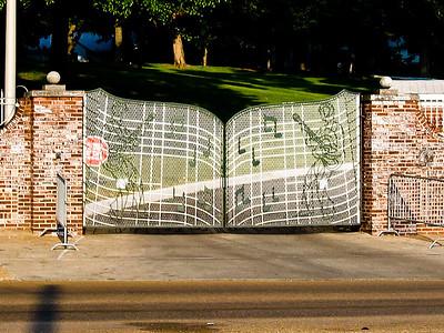Gates to Graceland, home of Elvis Presley, Memphis TN