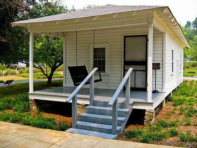 Birthplace of Elvis Presley in Tupelo, Mississippi.  He was born Jan 9 1935 in this house, built by his father.