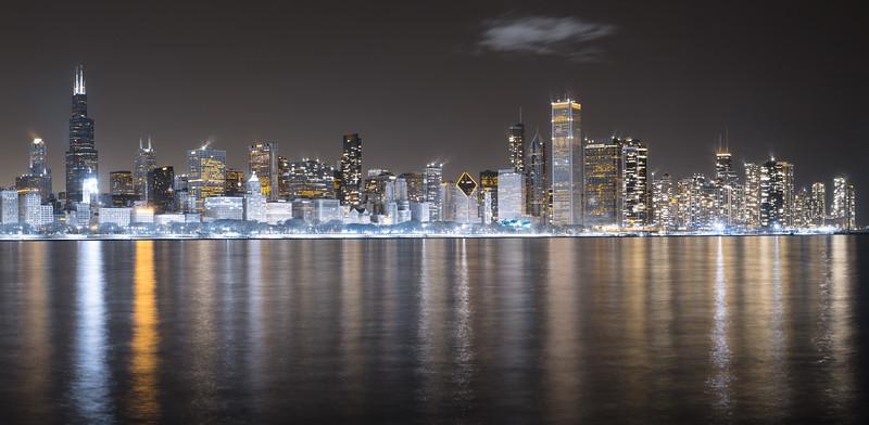 """Chicago Skyline in Infrared"""