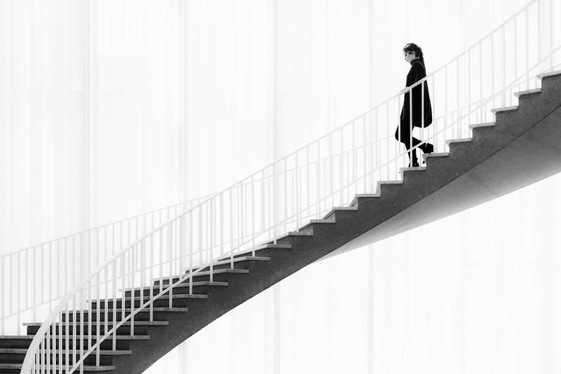 """Woman on Staircase"""