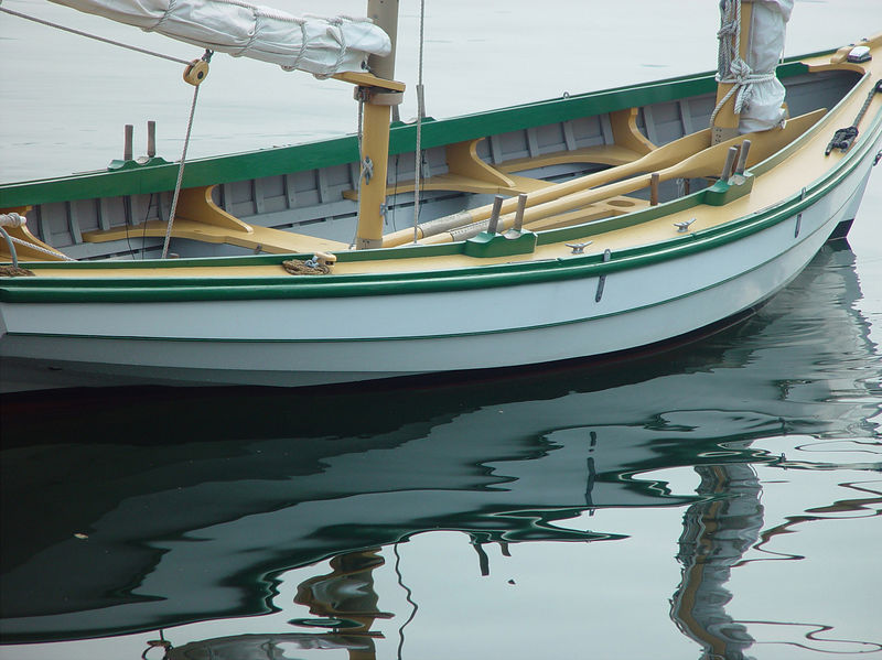 Reflection of a Boat in Halifax, Nova Scotia