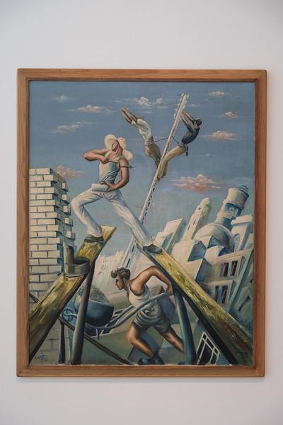 "Tel Aviv Museum of Art: Moshe Matosovsky, ""Construction Workers"" (1931)"
