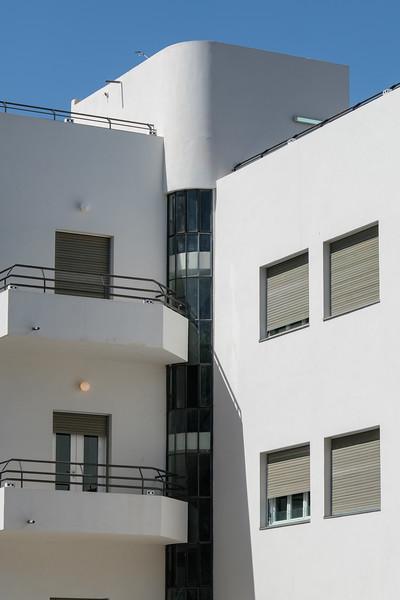 International Style architecture in the Rothschild Blvd. district, Tel Aviv