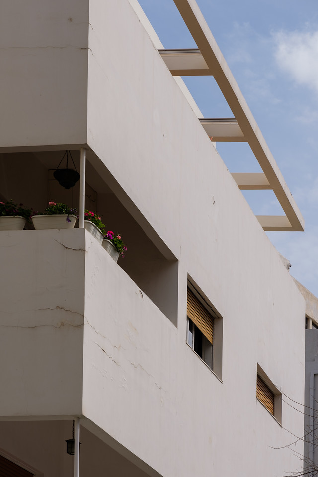 Zharsky House, 9 Gordon St. (D. Karmi, 1935), in the White City, Tel Aviv