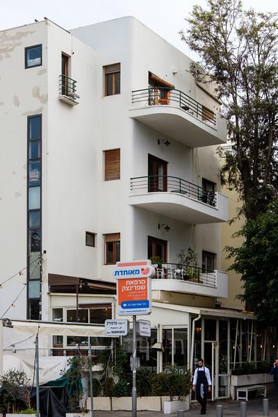 142 Rothschild Blvd. (D. Karmi, 1935), in the White City, Tel Aviv