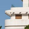 In the White City:  building detail, Dizengoff Square, Tel Aviv