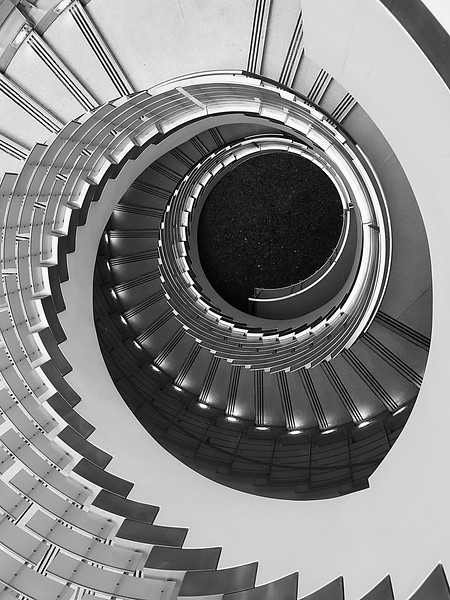 """Seattle Spiral B&W"""