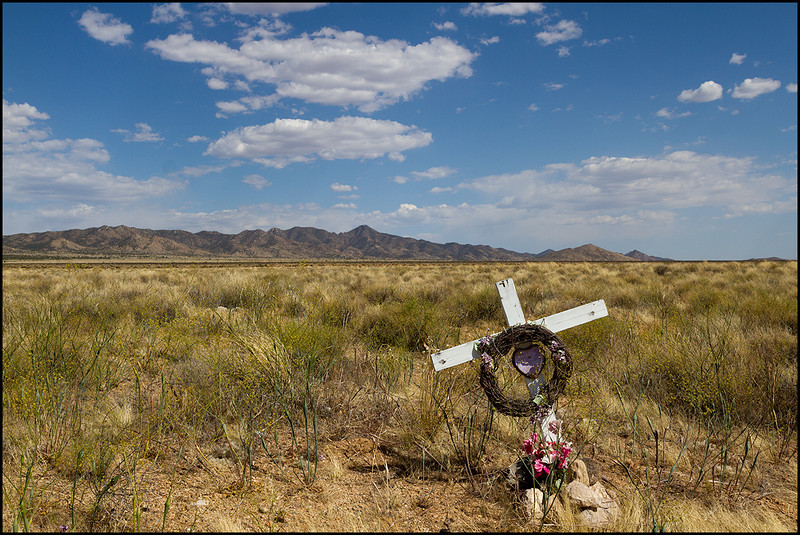 <center><i>Purple Heart Recipient, near Kingman, AZ</i></center>#5678-7D