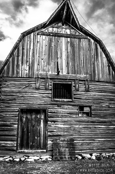 Hipped Barn -- Black & White Photography by Wayne Heim