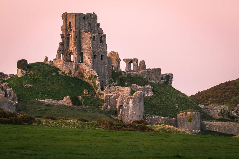 Corfe Castle Sunset