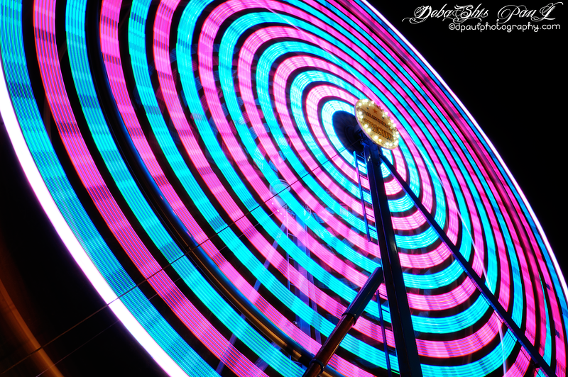 Ferris Wheel Rainbow @ USA Fair — in Gwinnett County, Georgia.