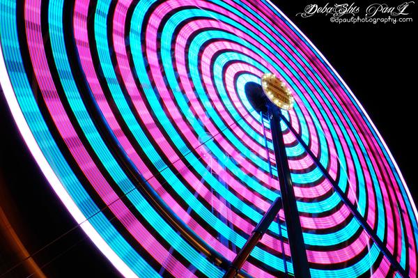 Ferris Wheel Rainbow @ USA Fair — in Gwinnett County, Georgia.