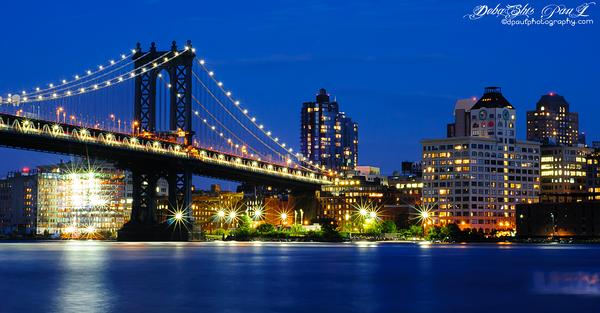 Manhattan Bridge from Chinatown - New York City Trip 2015