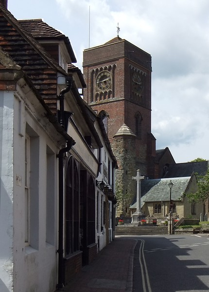 Saint Mary the Virgin Church from East Street, Petworth, West Sussex