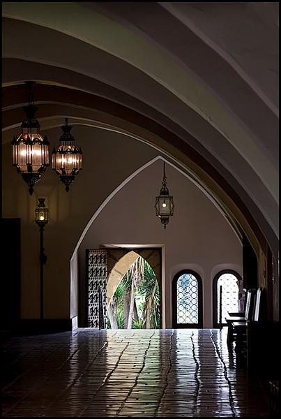 <center><i>Interior, Santa Barbara Courthouse, </i></center>#6424/25-7D