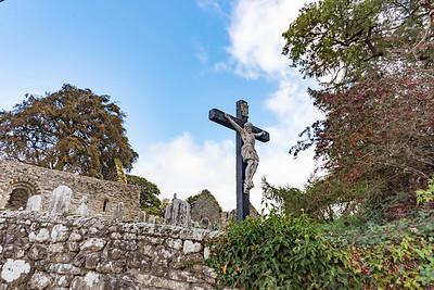Crucifix statue in a cemetery near Kilkenny