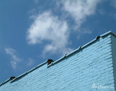 Blue Building, Blue Sky