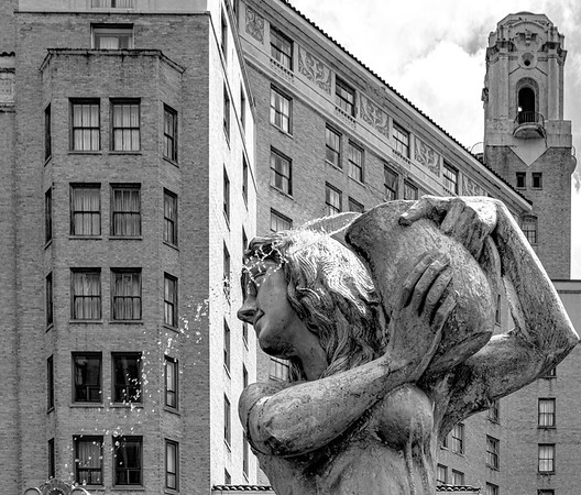 Statue downtown Hot Springs Arkansas