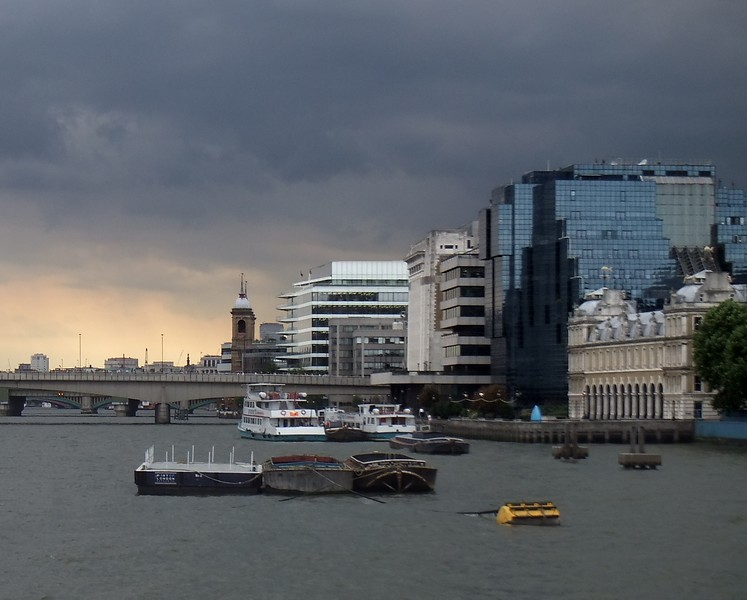 North shore of the Thames near London Bridge