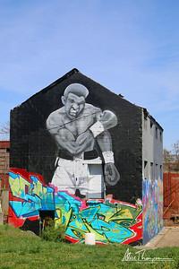 Muhammad Ali graffiti - Louisville, KY