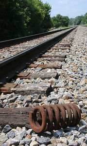 Railroad track and spring