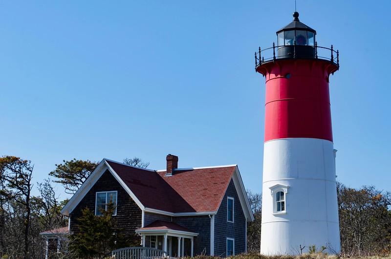 Nauset Beach Light, a restored lighthouse on Cape Cod National Seashore - Eastham, Massachussetts