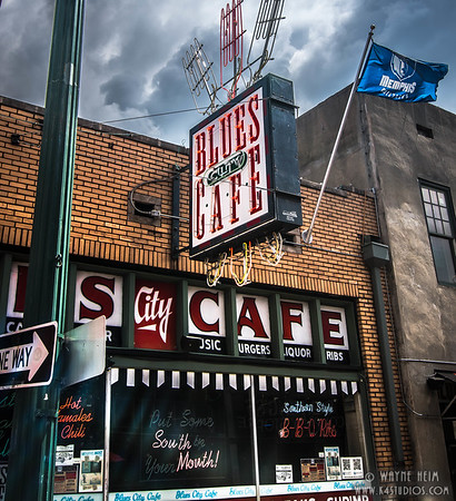Colorful Blues City Cafe - Photography by Wayne Heim,
