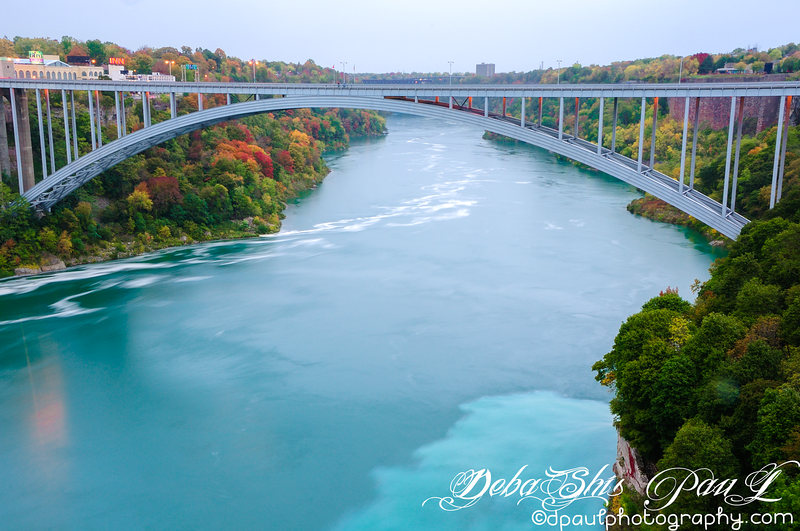 Rainbow Bridge(Connecting Niagara Falls, New York, United States and Niagara Falls, Ontario, Canada) from Prospect Point -  Buffalo, New York - USA